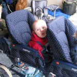 my children in their eye catching stroller :)